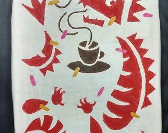 Coffee Dragon Tee XL