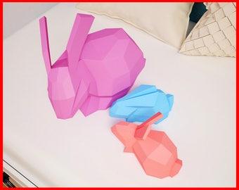 Papercraft robot 3d paper craft diy paper sculpture paper papercraft family of rabbits 3d paper craft model bunny rabbit paper sculpture kit solutioingenieria Choice Image