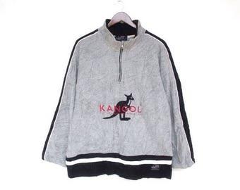 vintage 90s kangol fleece jacket size L kangol jacket kangol sweatshirt vintage kangol kangol sweater kangol shirt kangol kangol big logo