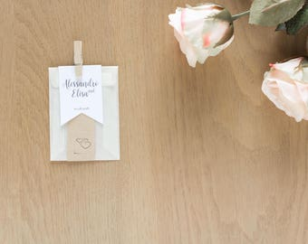 Kit 10 confection wedding bags + tags