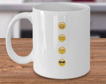 Fun Gift - SMILEY FACES Mug!!! Really Cute! Extremely Cheerful and Happy!! Great Gift for Adult AND Children!