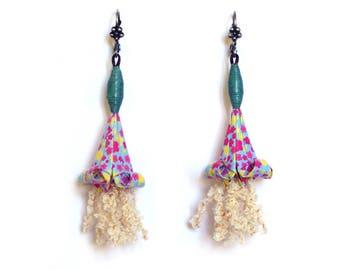 """""""Distilled Fleur de lis"""" earrings"""
