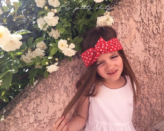 Headband red belt with small heart 2 to 10 years