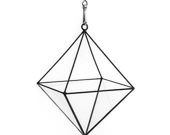 Geometric Open Octahedron Terrarium ~ Glass Terrarium ~ Geometric Planter ~ Wedding Decor ~ Succulent Terrarium ~ Hanging Vase ~ Home Decor