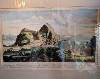 Set of two antique English lithographs.