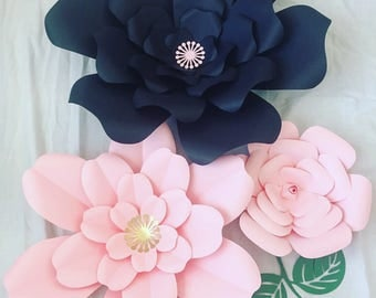 Paper Flowers-Set of 3