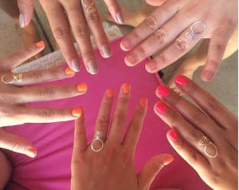 Temporary Diamond Ring Tattoo for Bachelorette Party, Gold Temporary Tattoo, 6pc per sheet
