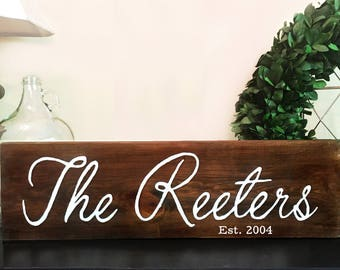 Custom Family Sign | Personalized Gift | Wedding Decoration | Last Name Wood Sign | Family Established Sign | Last Name Sign | Housewarming