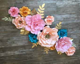 Garden paper flowers