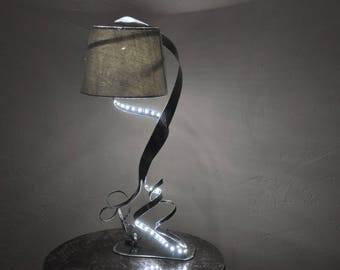 lamp with led Strip metal sculpture