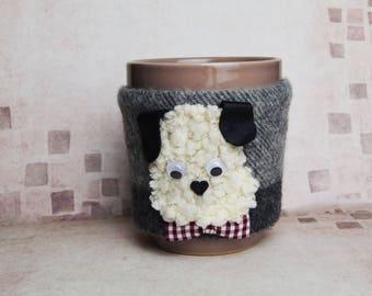 Dog 2018 Year Coffee Mug Cozy, Coffee Cup Cozy, Tea mug cozy, Coffee Cup Sleeve, Present for him, glam accessories
