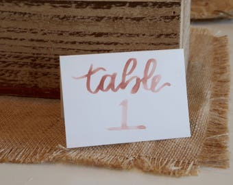 Hand Lettered Table Tents/Place Cards