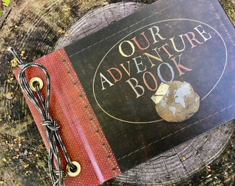 Mini Our Adventure Book, Adventure Book, Up Adventure Book, Wedding Book, 1t Year Aniversary gift, Personalozed Scrapbook, Leather Album