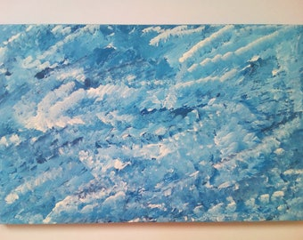 Original Art, Modern Abstract Painting, Acrylics on Wooden Panel