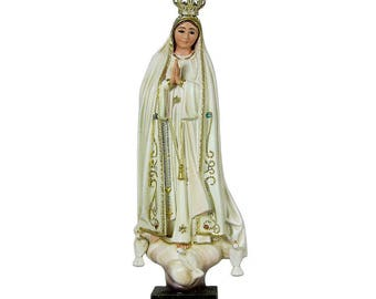 "9.5"" Hand-painted Our Lady Of Fatima Statue Virgin Mary Religious Statue #1033V"