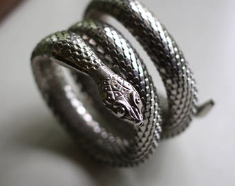 Vintage Snake Wrap Bracelet