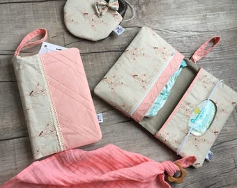 Diaperclutch with Zippered Compartment/ Nappy Wallet/Diaperpouch/Diaperclutchbag/ Momclutch/Diaper clutch
