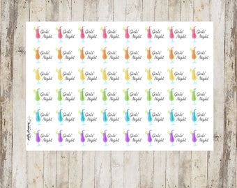 Girls Night Planner Stickers by Pretty Planning! Colorful and fun stickers ideal for planning your life!