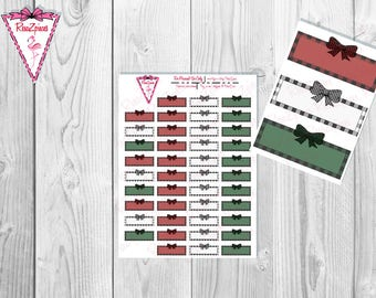 Printable Plaid Quarter Boxes - Functional Stickers w/Cut Line