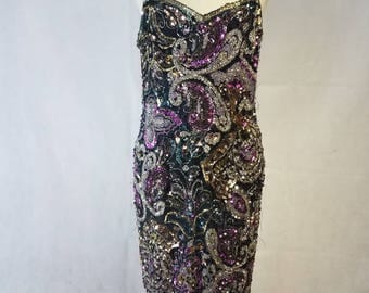 SALE* Multicolored sequin Vintage dress