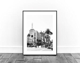 Sunset Blvd Print, California Print, Black and white Print, Street Photography,