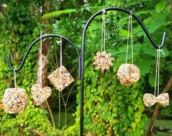 Wreath Bird Cakes / Bird Feeder / Hanging Feeder / Bird Seed / Bird Watching / Bird Seed Gift / Bird Food / Garden Decor / Housewarming Gift