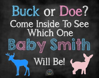 Buck or Doe Gender Reveal Party, Gender Reveal Decor, Gender Reveal Party Signs