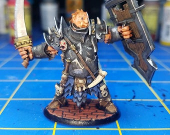 Half Ogre Fighter,  hand painted METAL mini from the Reaper Dark Legends line of tabletop dungeons and dragons miniatures.