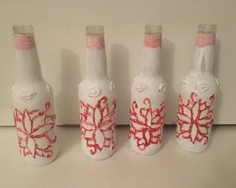 Handpainted decrative bottles.