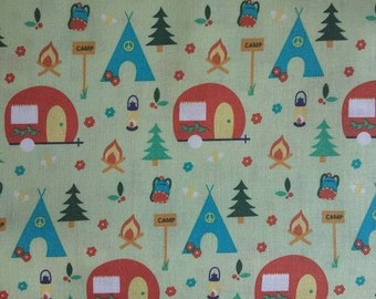 Fabric Freedom camping collection caravans tents 100% cotton fabric 44 inch / 110cm