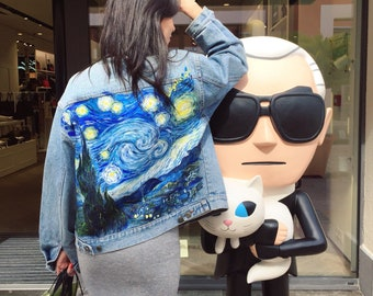 Van Gogh Starry Night denim jacket