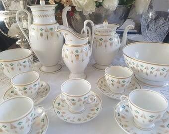 Tea / Mocca set - Hand Painted Porcelaine de Paris - Vieux Paris