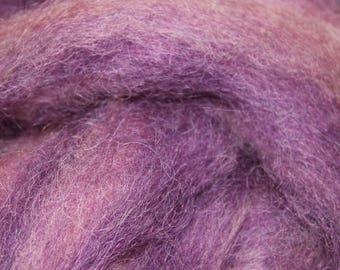 Ashley's Crown exotic mohair / alpaca / wool blended roving, 3oz skeins