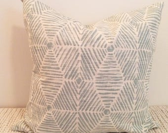 20 inch Calm Blue Pillow Cover