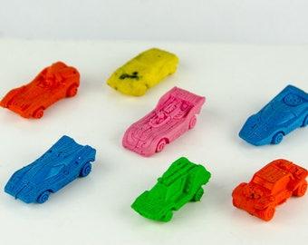 Vintage Matchbox Lesney Eraser Car Lot of 7
