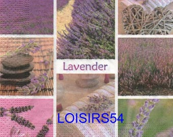Flowers and lavender paper towel