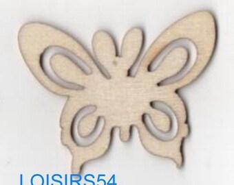 Butterfly wooden 35 mm x 50 mm blank