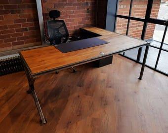 corner desk etsy uk. Black Bedroom Furniture Sets. Home Design Ideas