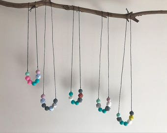 Silicone Bead Teething Necklace