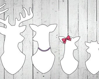 Deer Family Vinyl Decal