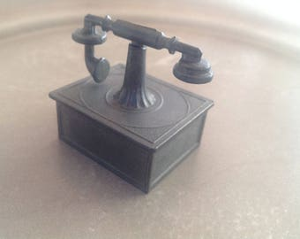 Antique pewter for Dollhouse/Doll House or telephone for collectors