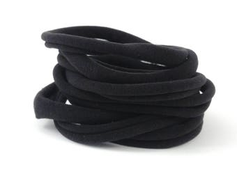 Nylon Headbands - Black Nylon Headband - Nylon Elastic - Nylon Headband - DIY Headbands - Headband Supplies  - One Size - Soft Headbands