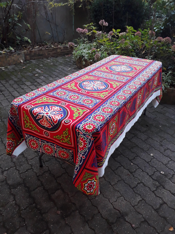 nappe ramadan simple rustique motifs khayameya avec. Black Bedroom Furniture Sets. Home Design Ideas