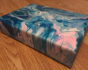 Original Abstract Fluid Painting