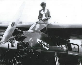 Amelia Earhart pilot Lockeed Vega 8x10 photo print poster wall decor