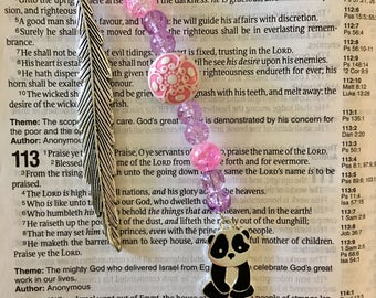 Panda Charm Bookmark