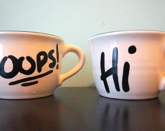 Oops! Hi! Mug (Pair)