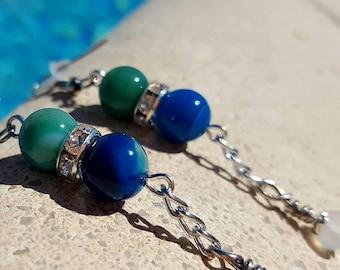 Gemstone earrings - handmade - unique