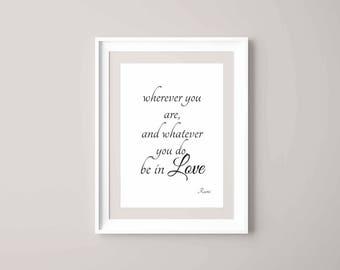 quote, Rumi, Love