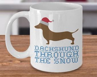 Dachshund Mug - Dachshund Gift - Funny Dachshund Coffee Mug - Dachshund Christmas - Cute Christmas Mug - Dachshund Owner Gift - Doxie Mug